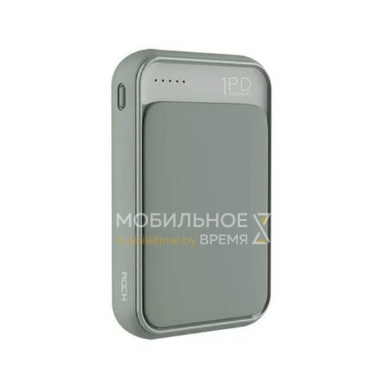 Портативное зарядное устройство ROCK P65 Mini PD 10000 mAh (Tea Green)
