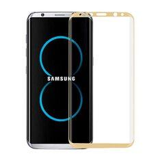 Защитное стекло для SAMSUNG S8 Full Glue  (золотистый)