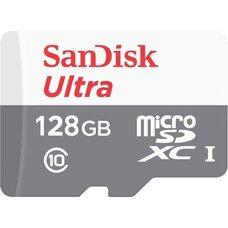 Карта памяти SANDISK 128GB MicroSD Ultra UHS-I 80mb 533x (Class-10) (с адаптером SD)