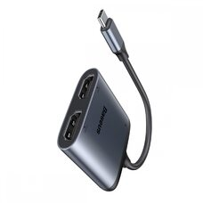 Переходник Адаптер Baseus Enjoy Series Type-C to HDMI*2+PD HD intelligent HUB CAHUB-I0G Grey