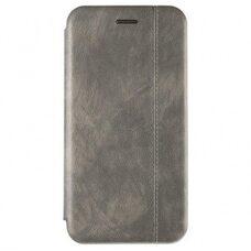 Чехол-книга для iPhone XR VINTAGE LiNE серый