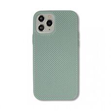 Чехол  для Apple iPhone 12/12 Pro. Силиконовый с перфорацией. (Мятный)