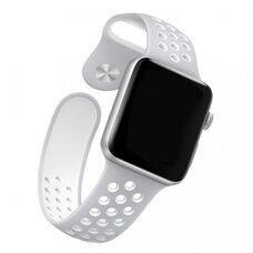 Ремешок для Apple Watch 38/40mm NiKE упак. картон) серо-белый