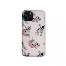 Матовый Silicone чехол-накладка для Apple iPhone 11 Pro. Luxo. Animals. Французский бульдог с бантом. №1