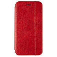 Чехол-книга для Samsung A21 VINTAGE LiNE красный