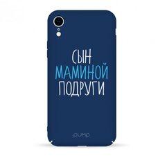Чехол-накладка для iPhone XR Pump Tender Touch Case Son Mama синий SPIGEN