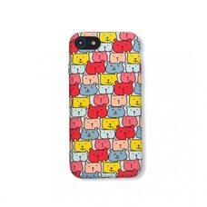Чехол-накладка для Apple iPhone 7/8/SE2. Luxo. Animals. Цветные медвежата. №06 силиконовый