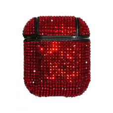 Чехол футляр для наушников Apple AirPods Bling Bright (Красный)