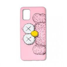 Чехол для Samsung Galaxy A51. Luxo. Brand. Kaws. X (Розовый). KS-27