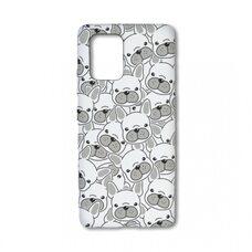 Детский чехол-бампер для гаджета Samsung Galaxy S10 Lite/A91. Luxo. Animals. Белые мопсы. J29 Edge Core