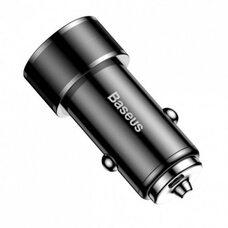 Автомобильное зарядное устройство BASEUS SMALL SCREW QC 3.0 36W TYPE C PD+USB CAXLD-A01 (черный)