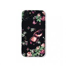 Чехол-накладка (бампер) для Apple iPhone 11 Pro. Luxo Plus. Birds. На чёрном фоне. №17