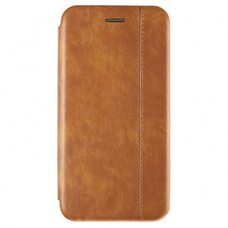 Чехол-книга для Samsung A21 VINTAGE LiNE светло-коричневый