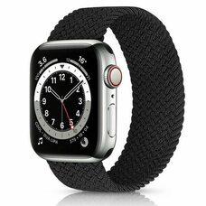 Ремешок для Apple Watch 42/44mm (M). Плетеный монобраслет. (Черный)