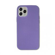 Чехол  для Apple iPhone 12/12 Pro. Силиконовый с перфорацией. (Сиреневый)