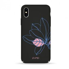 Чехол-накладка для iPhone X/XS Pump Tender Touch Case Black Flower