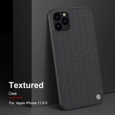 Чёрный чехол-накладка для Apple iPhone 11 Pro Max Nillkin Textured Case (Black)