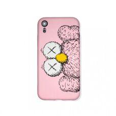 Чехол-накладка для Apple iPhone XR. Luxo. Brand. Kaws. X игрукши (Розовый). KS-27