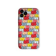 Чехол-накладка (бампер) для Apple iPhone 11 Pro. Luxo. Animals. Цветные медвежата. №06