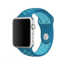 Ремешок для Apple Watch 38/40mm NiKE (упак. картон) голубой-бирюзовый