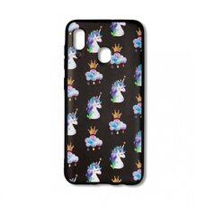 Чехол для Samsung Galaxy A20/A30. (Unicorn in crowns) Desire Touch