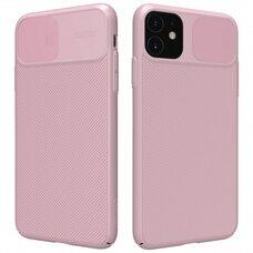 Силиконовый чехол бампер для Apple iPhone 11 Nillkin CamShield Case (розовый) Пластиковый