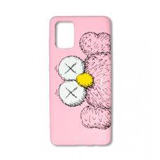 Чехол для Samsung Galaxy A71. Luxo. Brand. Kaws. X (Розовый). KS-27