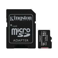 Карта памяти KINGSTON CANVAS UHS-I A1 64GB microSDXC I Class 10 100Mb/s (с адаптером SD)