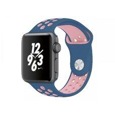 Ремешок для Apple Watch 38/40mm NiKE (упак. картон) сине-розовый