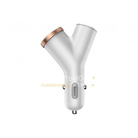 Автомобильное зарядное устройство BASEUS Y TYPE (CCALL-YX02) (белый)