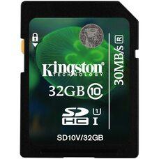 Карта памяти KINGSTON 32GB SDHC (Class 10) 30mb/s
