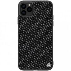 Чёрный чехол-накладка для Apple iPhone 11 Pro Max Nillkin Twinkle case (Silver)