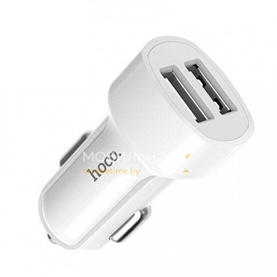 Автомобильное зарядное устройство HOCO Z2A 2 USB (белый)