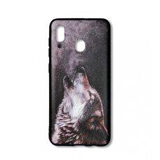 Чехол для Samsung Galaxy A20/A30. (Wolf)  Crystal Ascend серебристый