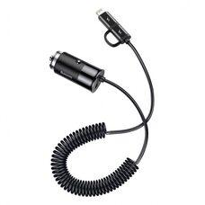 Автомобильное зарядное устройство BASEUS ENJOY 2 in 1 (CCALL-EL01) (черный)