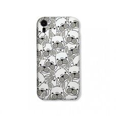Чехол-накладка для Apple iPhone XR. Luxo. Animals. Белый французский бульдог. J29