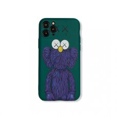 Чехол-накладка для Apple iPhone 11 Pro. Luxo. Brand. Kaws. X (Зелёный). KS-15