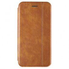 Чехол-книга для Apple IPhone 12 Mini. Vintage Line. (Светло-коричневый)