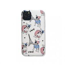 Матовый чехол-накладка для Apple iPhone 11Pro Max. Luxo. Animals. Французский бульдог в Париже. №2