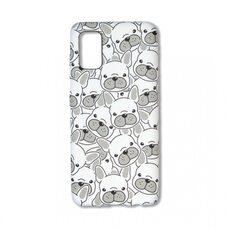 Чехол для Samsung Galaxy A41. Luxo. Animals. Белые мопсы. J29