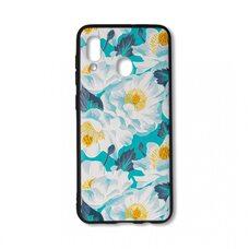 Чехол для Samsung Galaxy A20/A30. (Белые цветы) Neo Blade