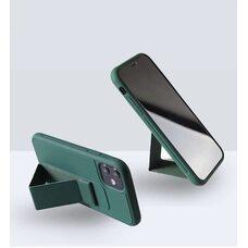 Чехол-подставка для SAMSUNG A51/M40S (2020) с магнитом темно-зелёный