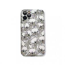 Чехол-накладка (бампер) для Apple iPhone 11 Pro. Luxo. Animals. Белый французский бульдог. J29