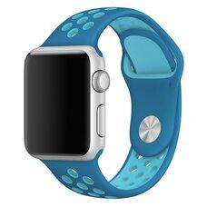 Ремешок для Apple Watch 42/44mm NiKE (упак. картон) голубой-бирюзовый