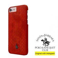 Пластиковый чехол для iPhone 7 / 8 POLO RACQUET CLUB KNIGHT (красный) TPU
