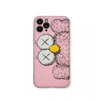 Чехол-накладка для Apple iPhone 11 Pro. Luxo. Brand. Kaws. XS (Розовый). KS-27