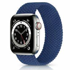 Ремешок для Apple Watch 42/44mm (M). Плетеный монобраслет. (Атлантический синий)