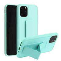 """Чехол-подставка для iPhone 11 PRO MAX 6.5"""" с магнитом мятно-зелёный"""
