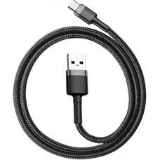 USB Дата-кабель TYPE-C для зарядки и синхронизации Android BASEUS CAFUL 1M (CATKLF-BG1) (черный)
