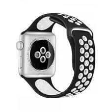 Ремешок для Apple Watch 38/40mm NiKE (упак. картон) черно-белый